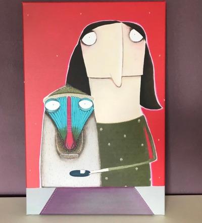 Susette Sternlespeier gibt ihrem Affen Pawel