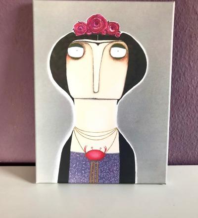 Frida Kahlo Sternzeichen Krebs Kunstdruck 30cm