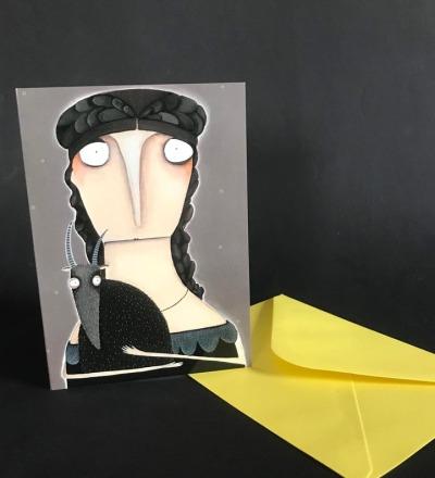 Annette von Droste-Hülshoff Steinbock - Geburtstagskarte