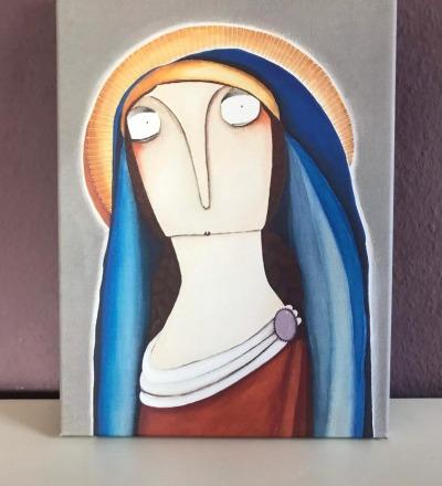 Die Jungfrau Maria Leinwanddruck 30cm 40cm