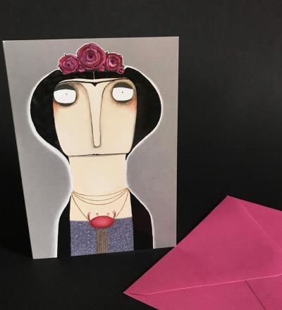 Frida Kahlo Sternzeichen Krebs - Geburtstagskarte