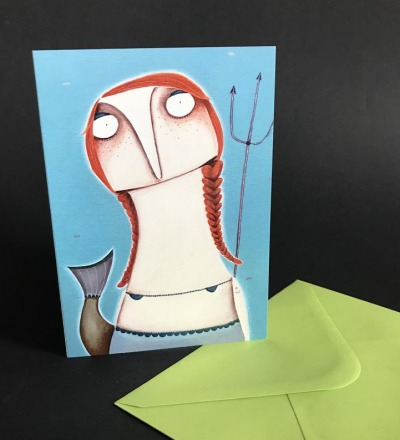 Die kleine Meerjungfrau Wassermann - Geburtstagskarte