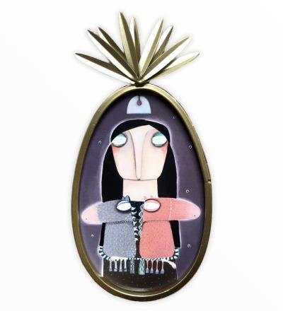 Priscilla Rübartsch - Kunstdruck im Ananasrahmen