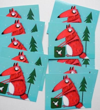 Weihnachtskarten mit Carlo dem Fuchs Weihnachtskarten