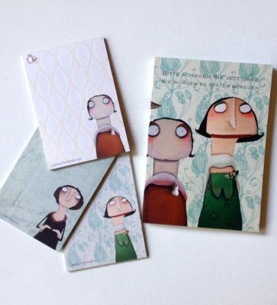 Notizbuch und Notizblöcke - Notiz-Set