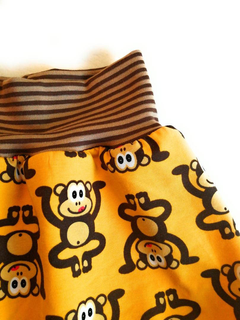 Baby Kind Kurze Pumphose Shorts Affen