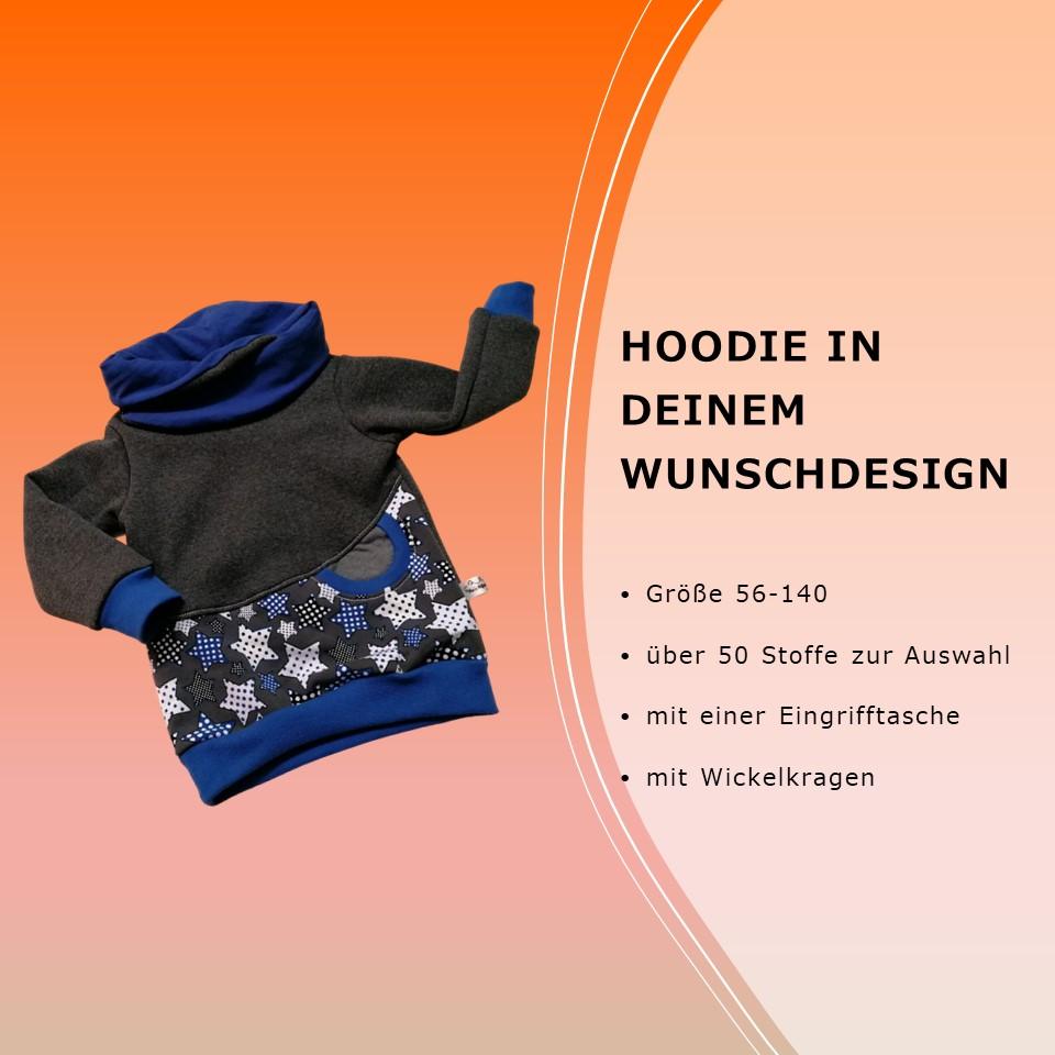 Baby Kind Hoodie Pullover mit Wickelkragen