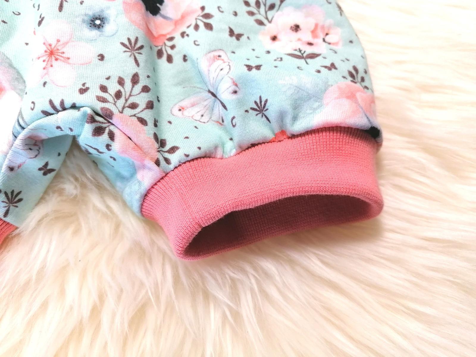 Baby Kind kurze Pumphose Rotkehlchen mint