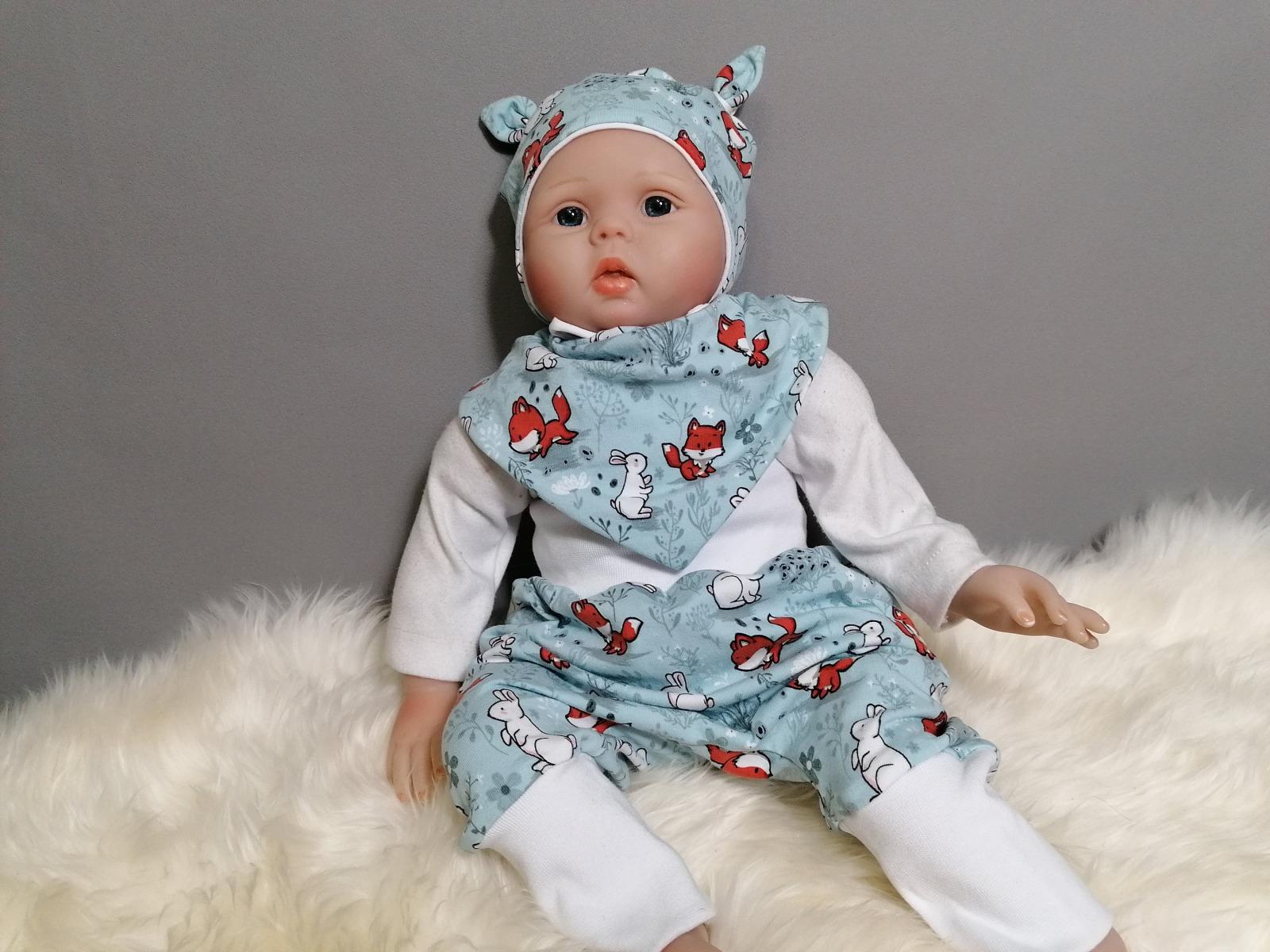 Baby Kind Pumphose Mitwachshose Füchse Hasen