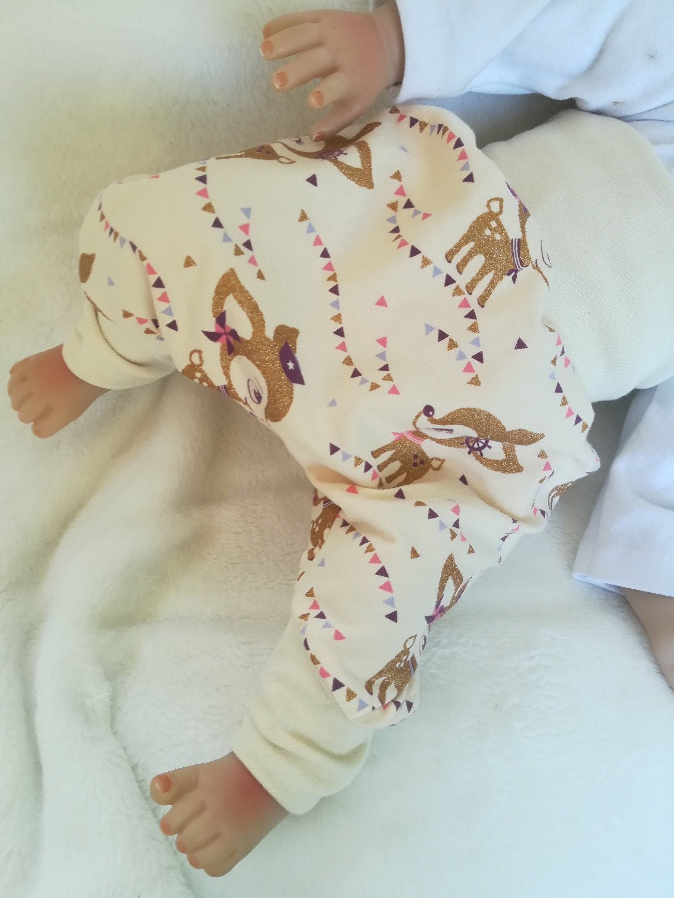 Exclusive Baby Pumphose mit gold glitzernden