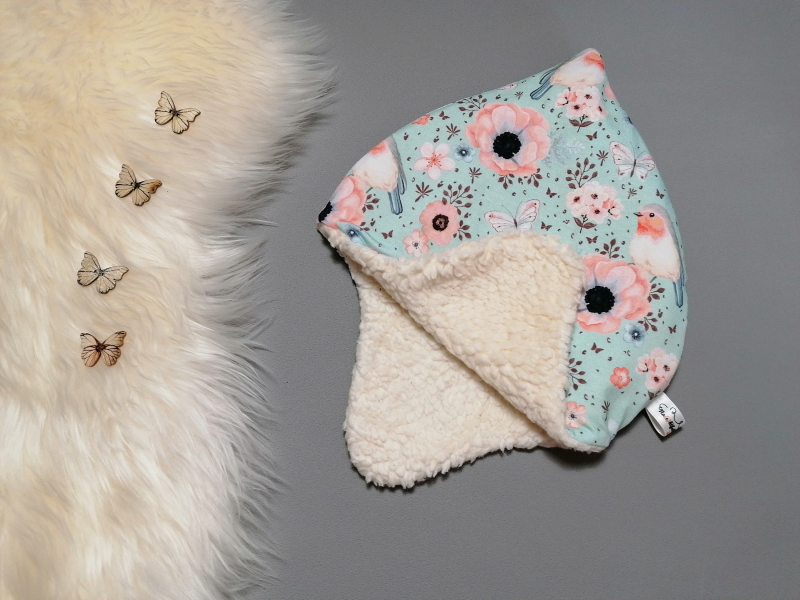 Baby Kind Zipfelmütze Ohrenmütze mit Jersey-