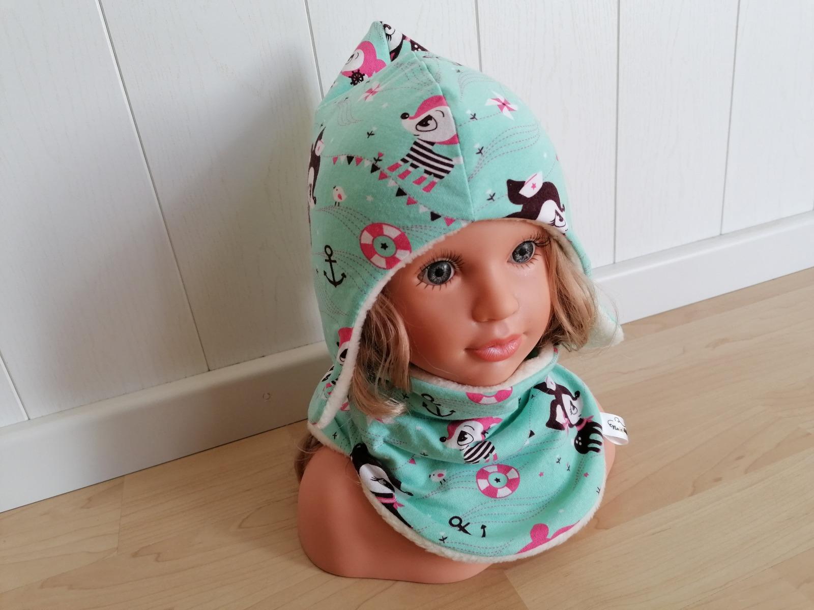 Baby Kind Zipfelmütze Ohrenmütze Hafenkitz mint