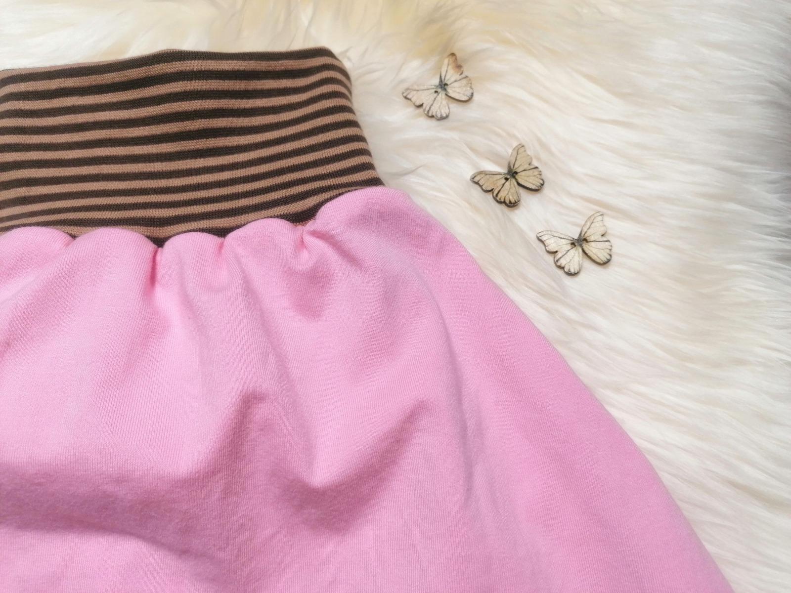 Pucksack Strampelsack Uni rosa in Größen