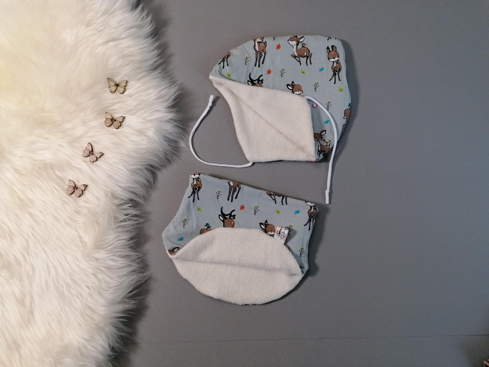 Zipfelmütze zum Binden für Babys und
