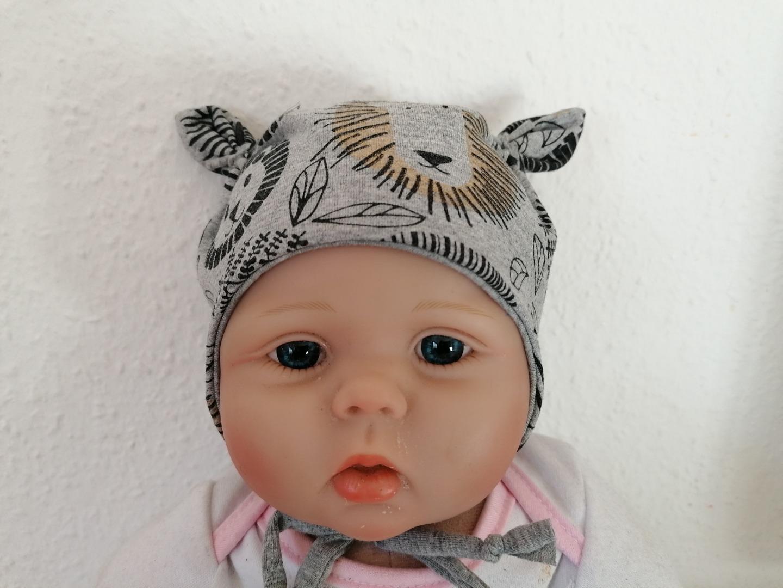 Mütze mit Öhrchen Ohrenmütze Babymütze Vintage-Anker