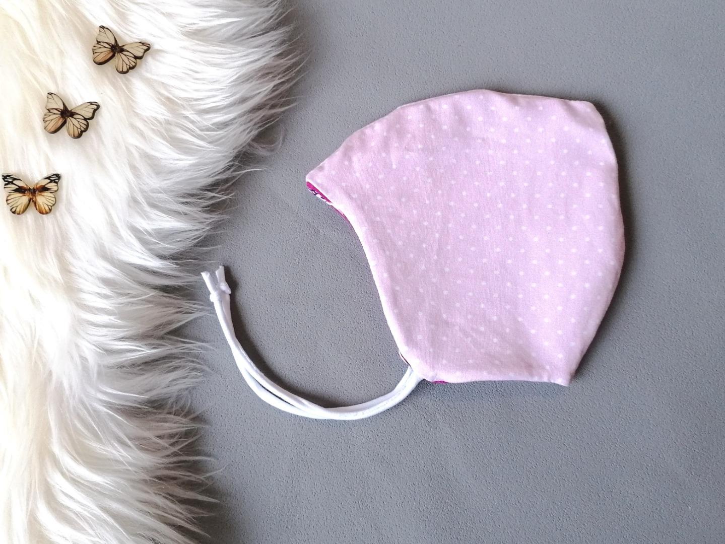 Zipfelmütze zum Wenden Bindemütze für Babys