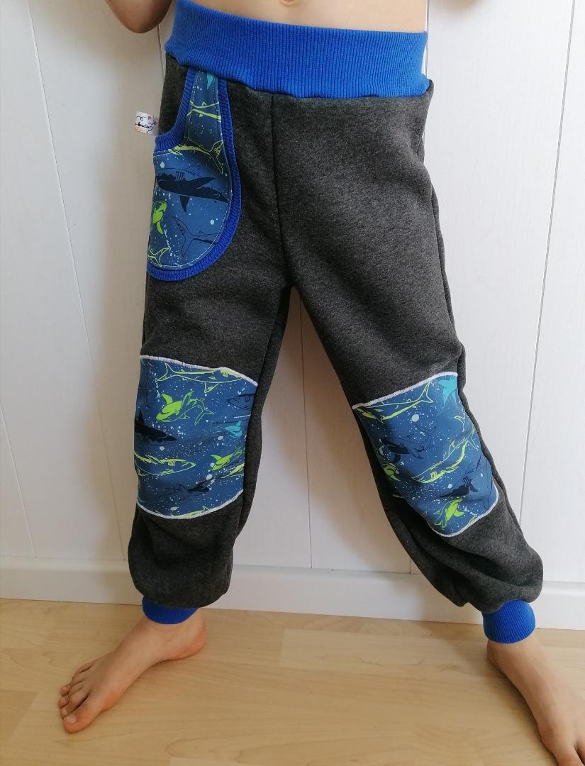 Sweathose mit Softshell-Belegen und Taschen Dinos