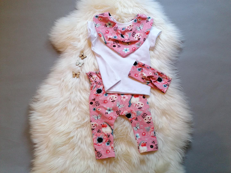 Babyset 3-teilig Paperback Hose Halstuch Body