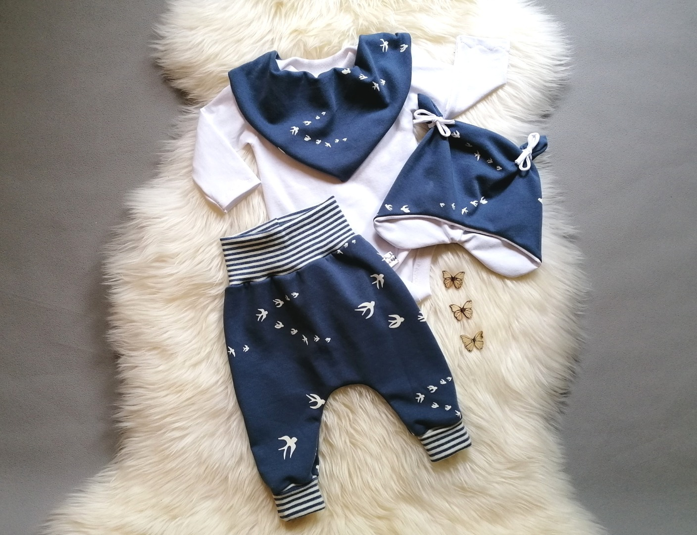 Baggypants Pumphose Mitwachshose Baby Kind Schwalben
