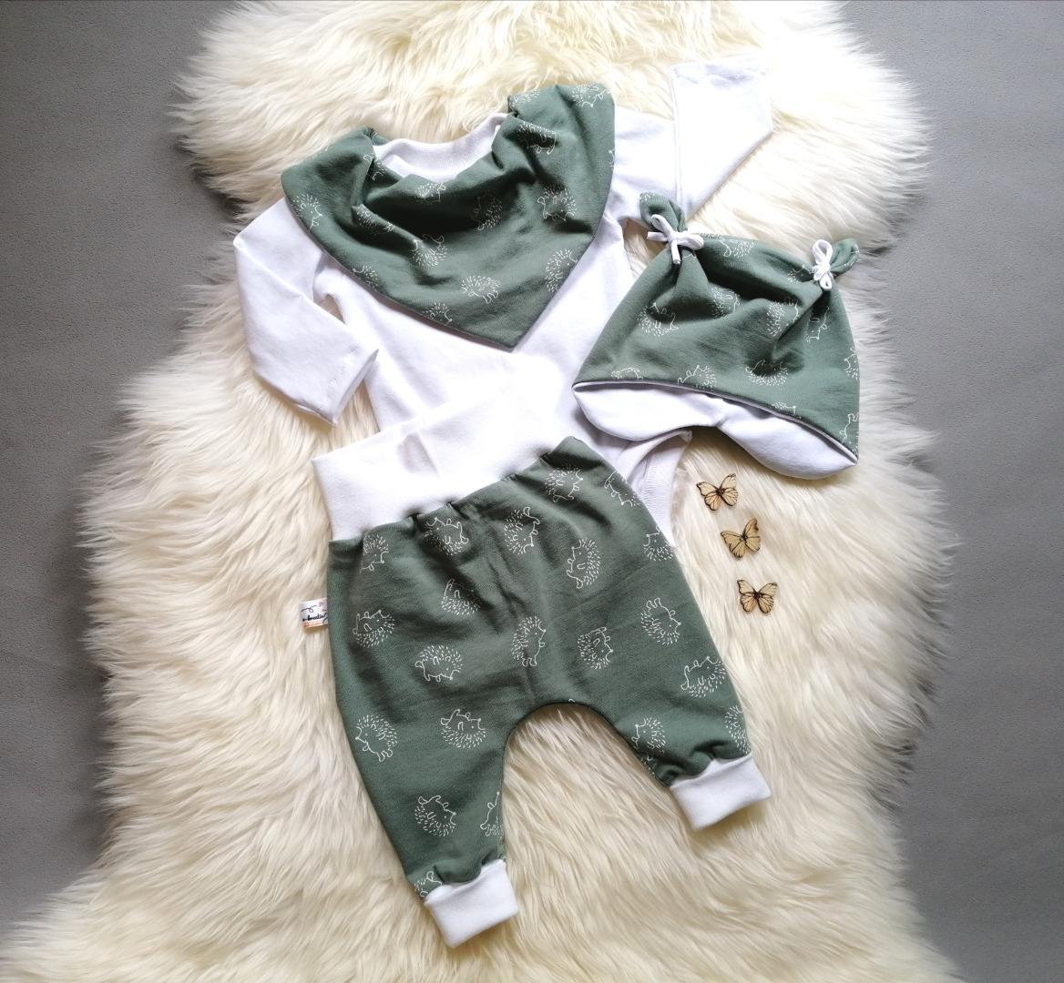 Baggypants Pumphose Mitwachshose Baby Kind Igel