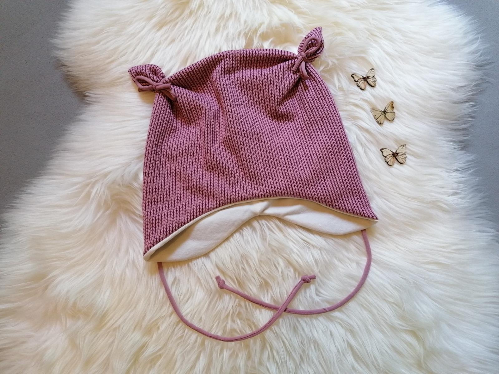 Baby Kind Ohrenmütze mit und ohne