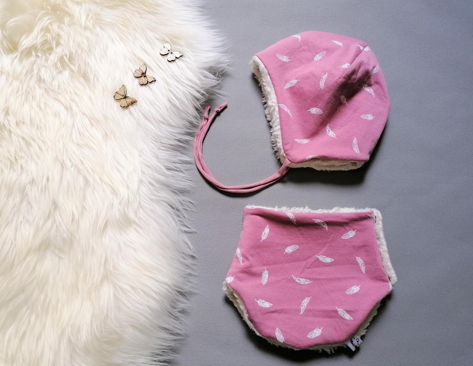 Baby Kind Set Bindemütze und Halssocke