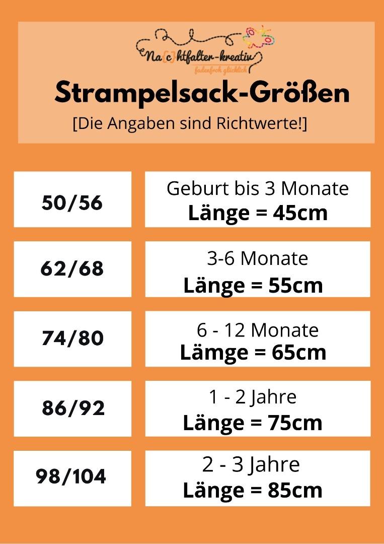 Pucksack Strampelsack hellgrau-meliert in Größen und
