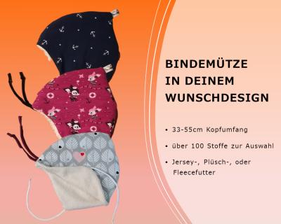 Bindemütze Zipfelmütze für Babys und Kinder
