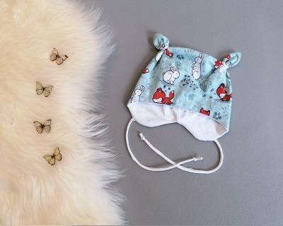 Baby Kind Ohrenmütze mit oder ohne