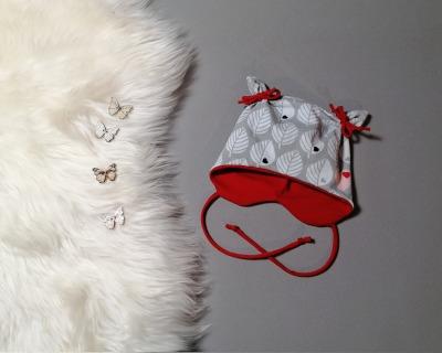 Mütze mit Öhrchen in Wunschgröße Blätter