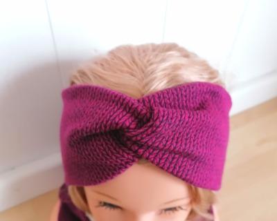 Bandeaux Stirnband Knit Knit beere für