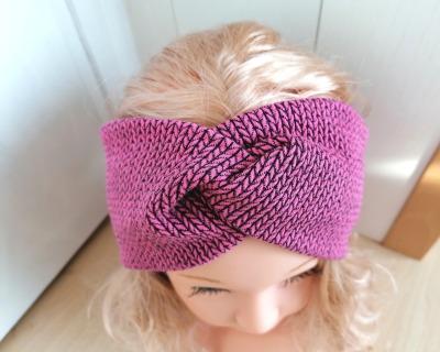 Bandeaux Stirnband Knit Knit dunkles Altrosa