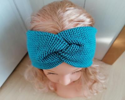 Bandeau Stirnband Knit Knit petrol für