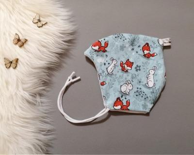 Baby Kind Zipfelmütze Füchse und Hasen