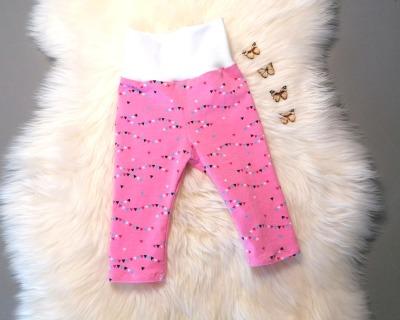 Leggings in Längen Wimpelkette rosa beere
