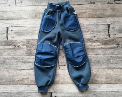 Sweathose mit Softshell-Belegen und Taschen Jeansoptik