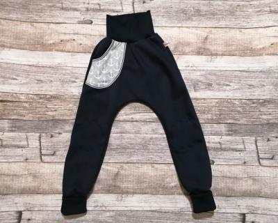 Pumphose mit Tasche und Kniepatches Vintage-Anker