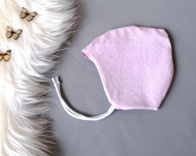 Zipfelmütze Bindemütze zum Wenden Babymütze Kindermütze