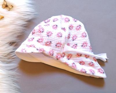 Baby Kind Schirmmütze aus Musselin Marienkäfer