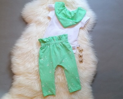Babyset 3-teilig Paperback Hose Halstuch und