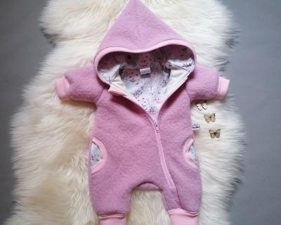 Baby Kind Walkoverall helles Flieder Rosa