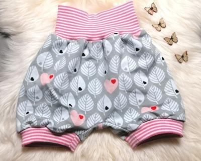 Baby Kind Kurze Pumphose Shorts Blätter
