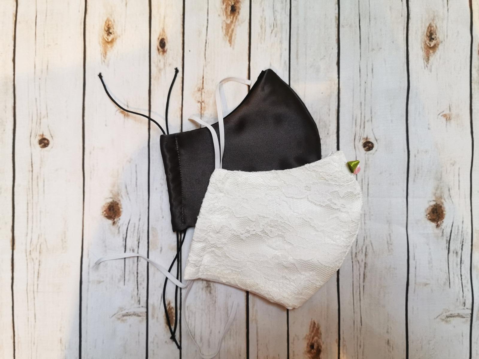 2er SET Paar Hochzeit - Alltagsmaske