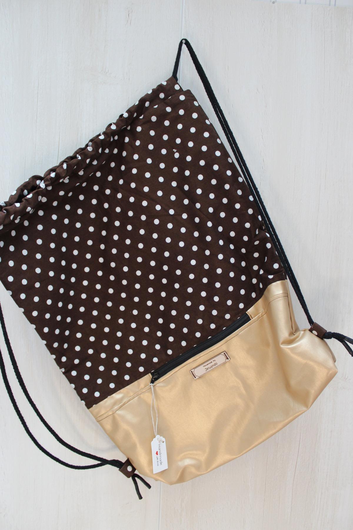 Turnbeutel Punkti mit Reißverschlusstasche