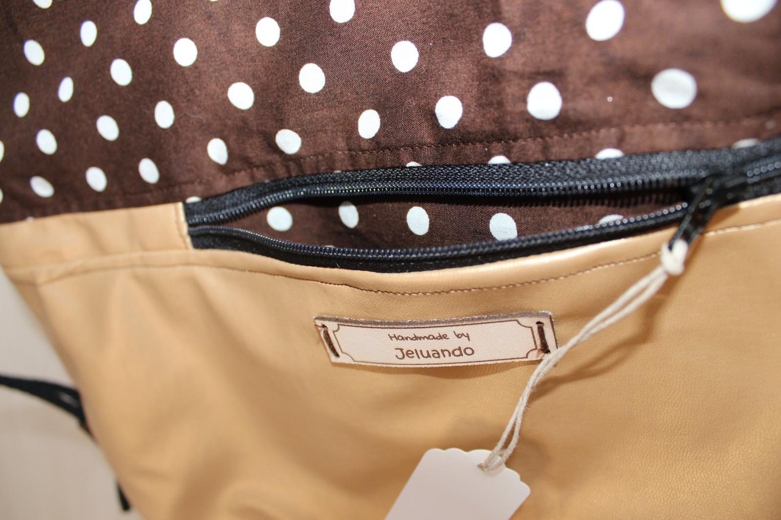 Turnbeutel Punkti mit Reißverschlusstasche 2