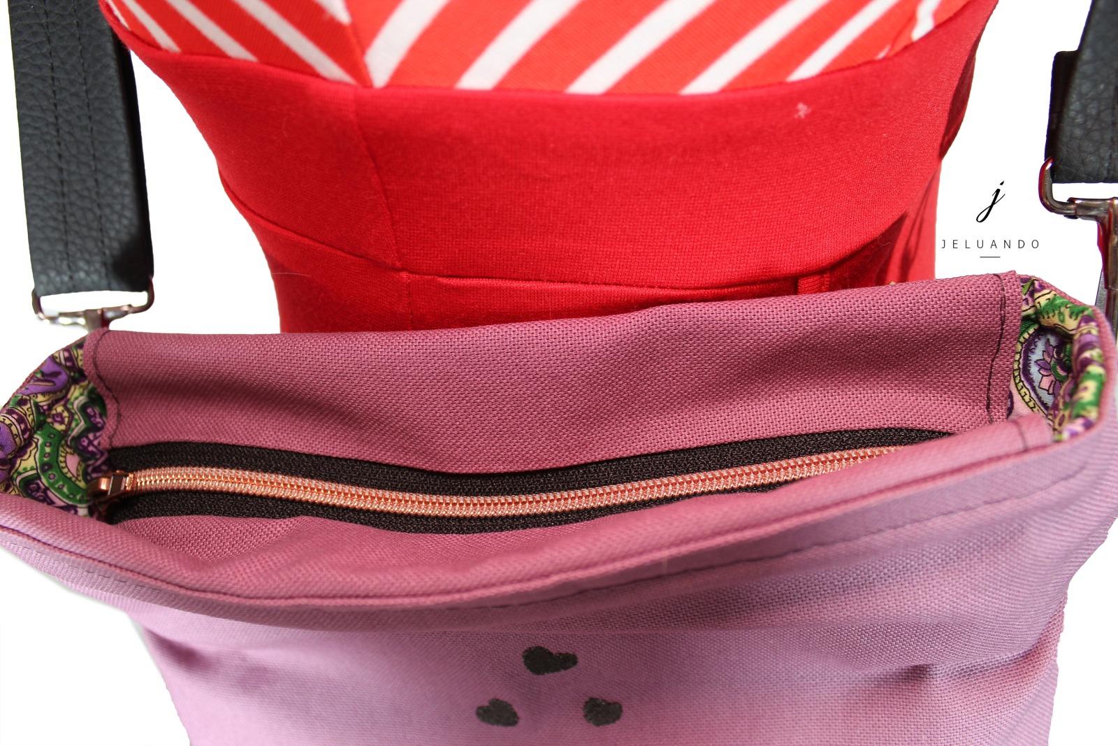 Handtasche mit Stickmuster Schwalbenkuss 5