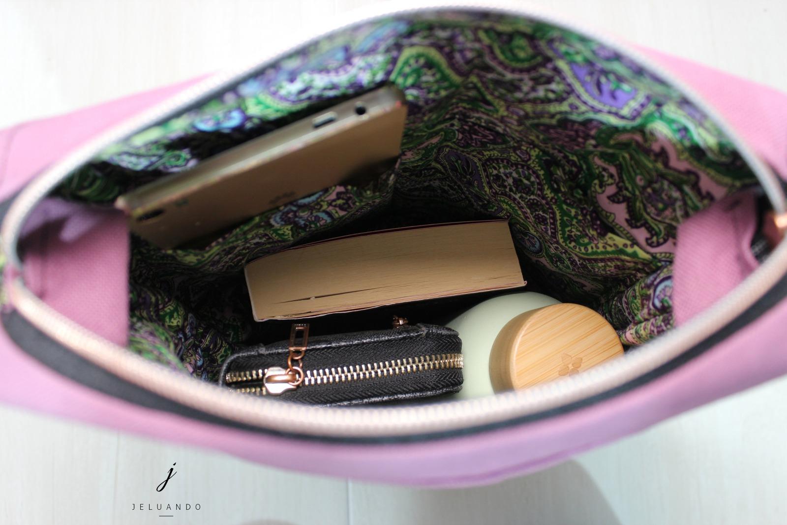 Handtasche mit Stickmuster Schwalbenkuss 7