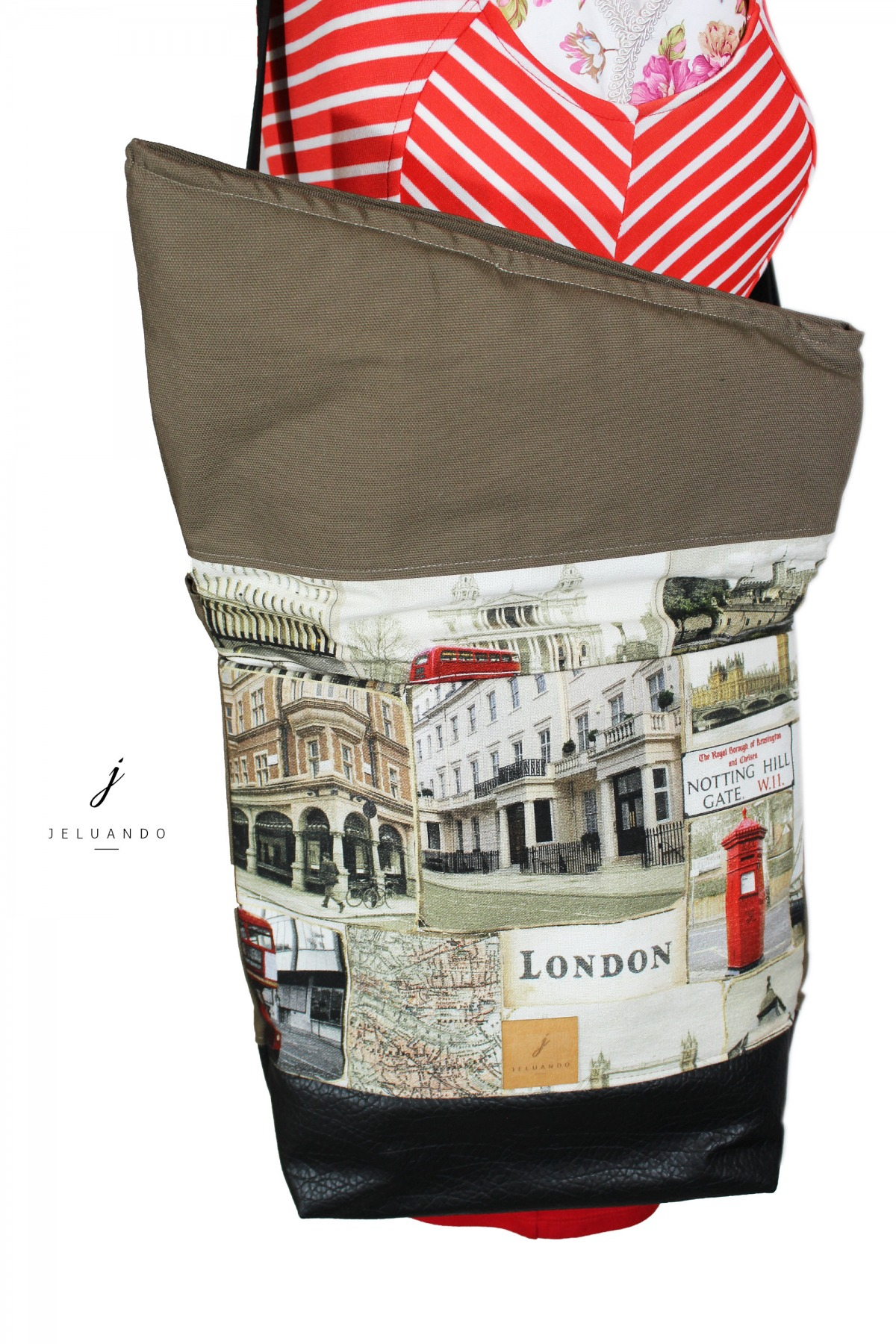 vegane FoldOver Tasche London 3
