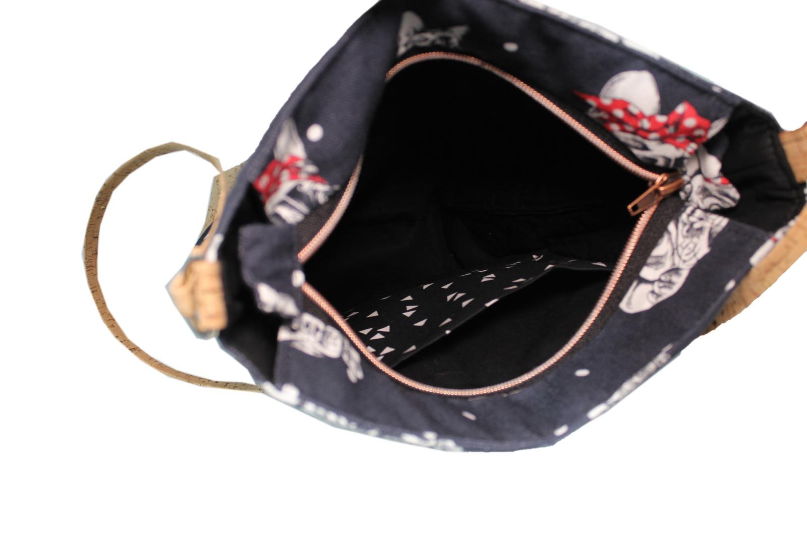 vegane Handtasche mit Motiv Französische Bulldogge