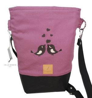 Handtasche mit Stickmuster Schwalbenkuss Handtasche Jelu